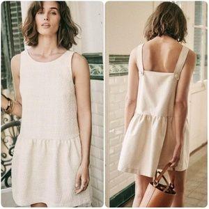SEZANE Lizie Straps Textured Jacquard Mini Dress